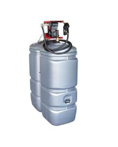 1000 liter kunststof mazouttank met pomp - UV-bestendig