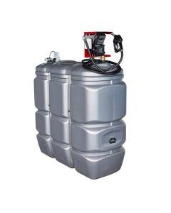 1500 liter kunststof mazouttank met pomp - UV-bestendig