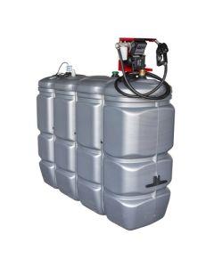 2000 liter kunststof mazouttank met pomp - UV-bestendig