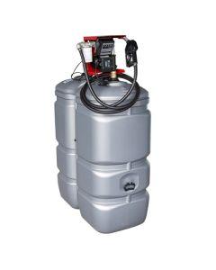 750 liter kunststof mazouttank met pomp - UV-bestendig