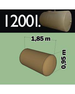 1200 liter ondergrondse mazouttank metaal - dubbelwandig