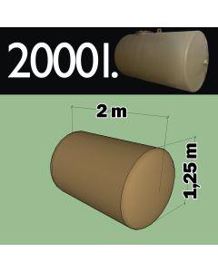 2000 liter ondergrondse mazouttank metaal - dubbelwandig