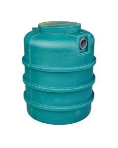 Ondergrondse ronde septische put in kunststof van 1000 liter