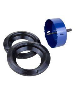 Verbindingsset (2 dichtingen 110mm + 1 klokboor 121mm)