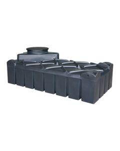 Ultraplatte kunststof regenwaterput - 1500 liter
